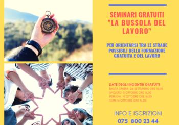 """SEMINARIO GRATUITO """"LA BUSSOLA DEL LAVORO"""" – 10 ottobre Ponte San Giovanni Perugia"""