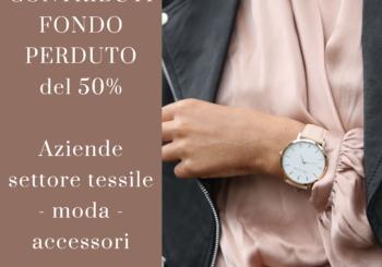 TESSILE, MODA e ACCESSORI: CONTRIBUTI FINO AL 50%